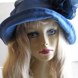 Womens Blue Suede Velvet Hat in SkyBlue