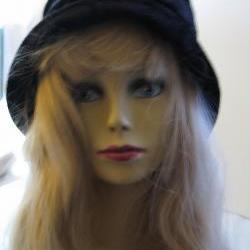 Black Velvet Cloche Hat
